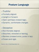 posture language