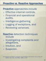 proactive vs reactive approaches