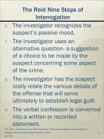 the reid nine s teps of interrogation
