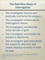 the reid nine steps of interrogation
