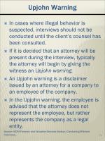 upjohn warning