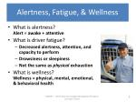 alertness fatigue wellness