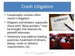 crash litigation