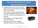 even small delays can have big consequences