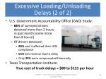 excessive loading unloading delays 2 of 2