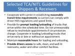 selected tca nitl guidelines for shippers receivers