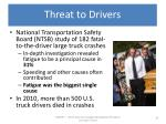threat to drivers