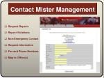 contact mister management