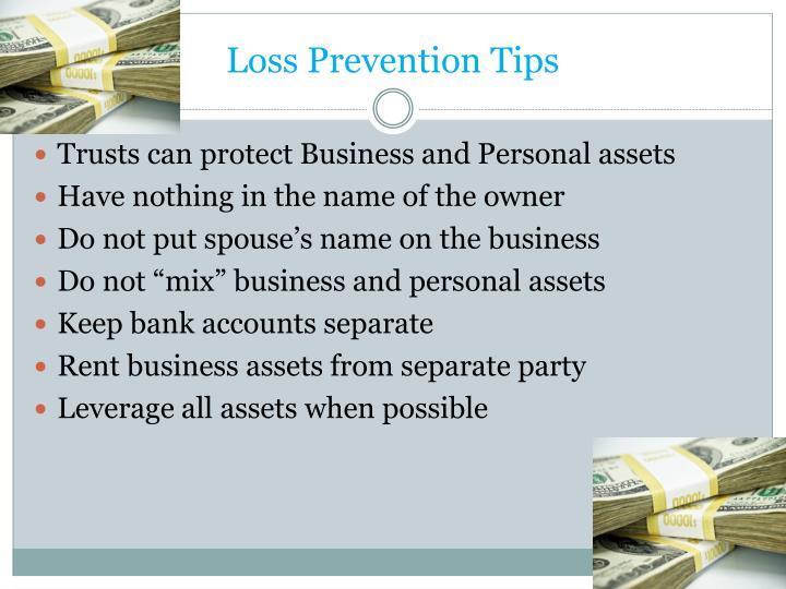 Loss Prevention Tips