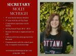 secretary molly mchugh