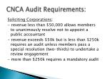 cnca audit requirements