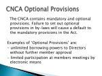 cnca optional provisions