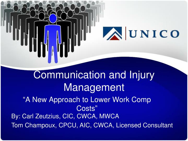 communication and injury management n.