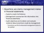 financial statement assertions