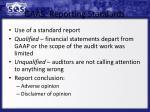 gaas reporting standards