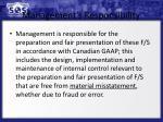 management s responsibility