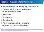 hedging requirements for tax hedge