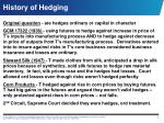history of hedging