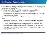 identification requirements