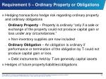 requirement 5 ordinary property or obligations