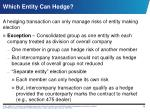 which entity can hedge
