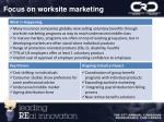 focus on worksite marketing