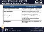 major drivers of current insurance product trends