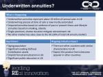 underwritten annuities