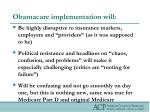 obamacare implementation will