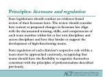 principles licensure and regulation1