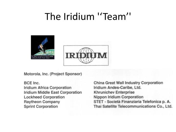 the iridium team n.