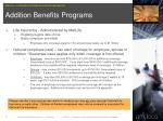 addition benefits programs