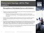 retirement savings 401k plan cont d2