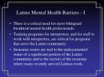 latino mental health barriers i