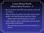 latino mental health clinical best practices i