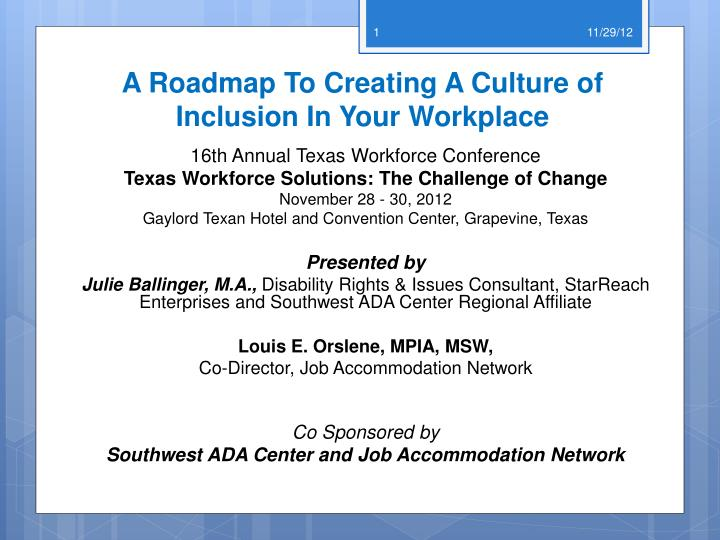 a roadmap to creating a culture of inclusion in your workplace n.