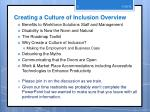 creating a culture of inclusion overview
