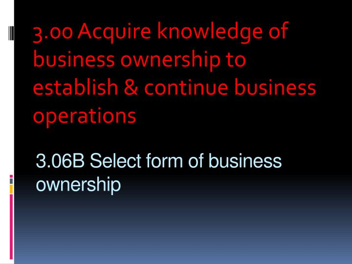 3 06b select form of business ownership n.
