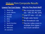 mature firm composite results