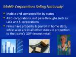 mobile corporations selling nationally