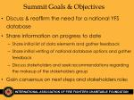 summit goals objectives