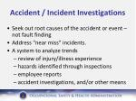 accident incident investigations