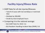 facility injury illness rate