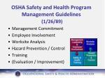 osha safety and health program management guidelines 1 26 89
