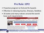 pre rule i2p2