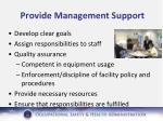 provide management support