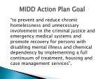 midd action plan goal