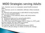 midd strategies serving adults