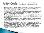 policy goals king county ordinance 15949