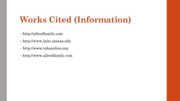 Works Cited (Information)